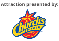 This attraction is sponsored by Church's Chicken