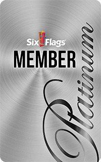 Six Flags Platinum Membership Card
